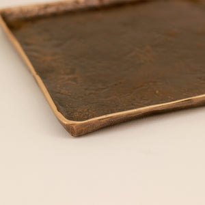Handmade Cast Bronze Tray Inspired by Wabi-Sabi - Trinket Tray
