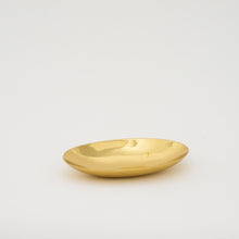Small Handcrafted Polished Brass Plate