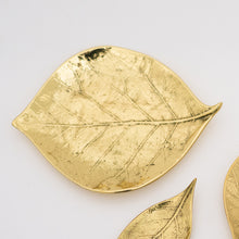 Candle Holder Cluster of 3 Handmade Brass Leaves