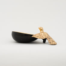 Handmade Cast Bronze Bowl with Bird
