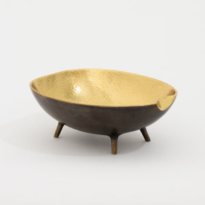 Brass Bowl With Legs
