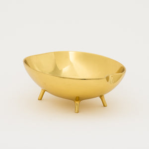 Polished Brass Bowl With Legs