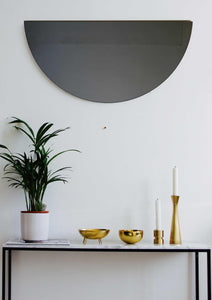 Black Tinted Luna Orbis Full Circle Round Mirror™ Frameless