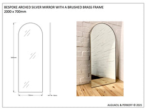 BESPOKE ARCHED MIRROR 2000 X 700
