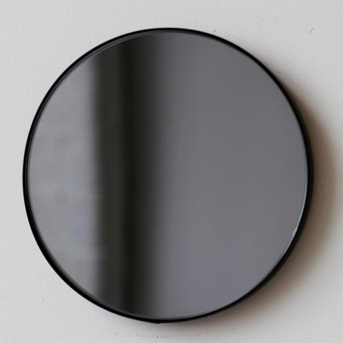 Black Tinted Orbis round mirror™ with BLACK frame