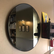 Orbis™ Round Black Tinted Mirror with Black Frame