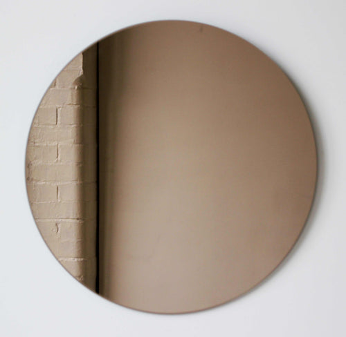 Bronze Tinted Orbis round mirror™ FRAMELESS