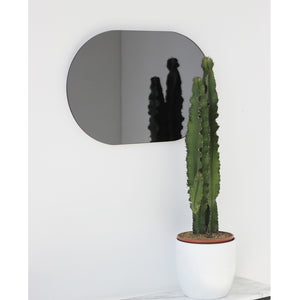 Capsula™ Capsule shaped Black Tinted Contemporary Frameless Mirror