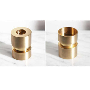Convertible brass candle holder for taper & tealight candle holder