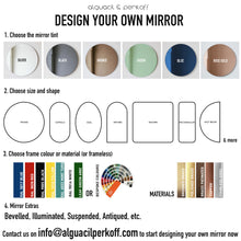 Beveled Grey Orbis™ Round Mirror Frameless with faux leather backing