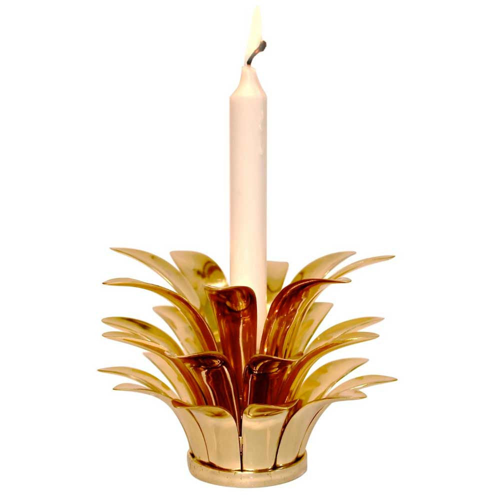 Handmade Stackable Cast Brass Pineapple Candle Holder