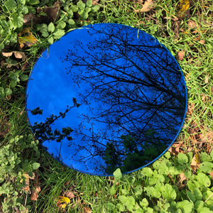 Orbis™ Round Blue Tinted Mirror with Blue Frame