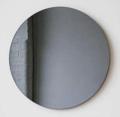 Black Tinted Orbis™ Round Mirror Frameless