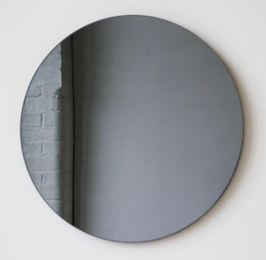 Black Tinted Orbis round mirror™ FRAMELESS