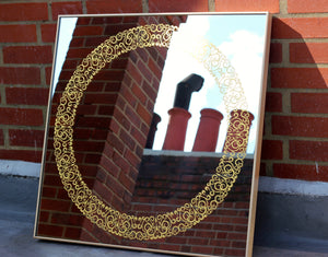 Brass Framed Cooper™ Square Mirror