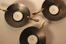 Set of Three Two Birds Brass Tea Light Holders