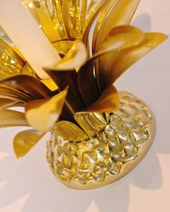 Handmade Cast Brass Pineapple Candle Holder
