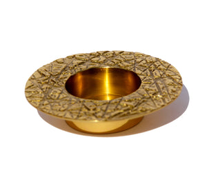 Brass Kutch tealight candle holder