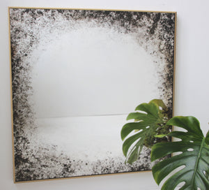Horizon Mirror™ - Square Brass Framed