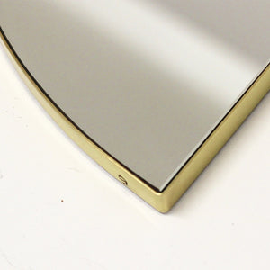 Luna™ Half Moon Art Deco Mirror with a Brass Frame (1 piece)
