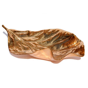 Large Cast Bronze Leaf