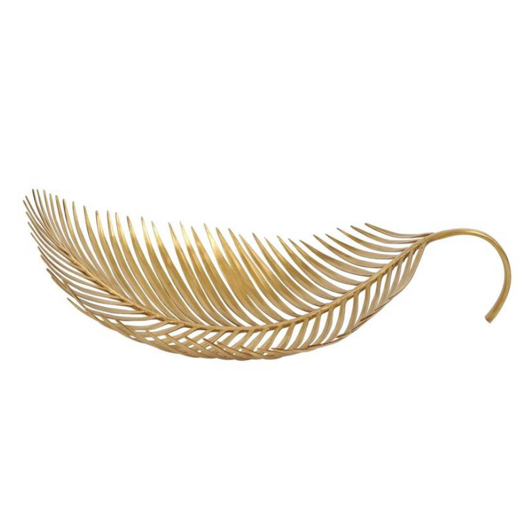 Long Palm Tree Leaf Bowl