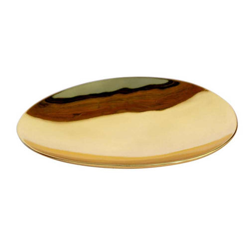 Medium Hand Crafted Polished Brass Plate
