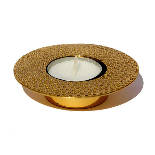 Brass Moon tealight candle holder