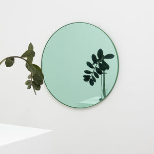 Orbis™ Round Green Tinted Mirror with Green Frame