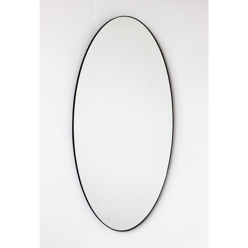 Ovalis™ Oval shaped Contemporary Large Mirror with a Black Frame
