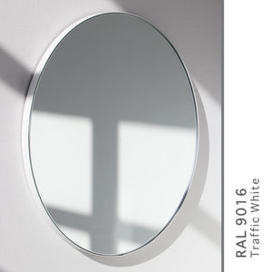 Orbis™ Round Bronze Tinted Contemporary Mirror with White Frame