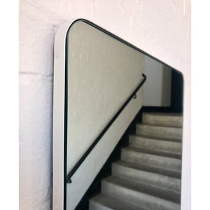 Quadris™ Rectangular Mirror with a WHITE frame