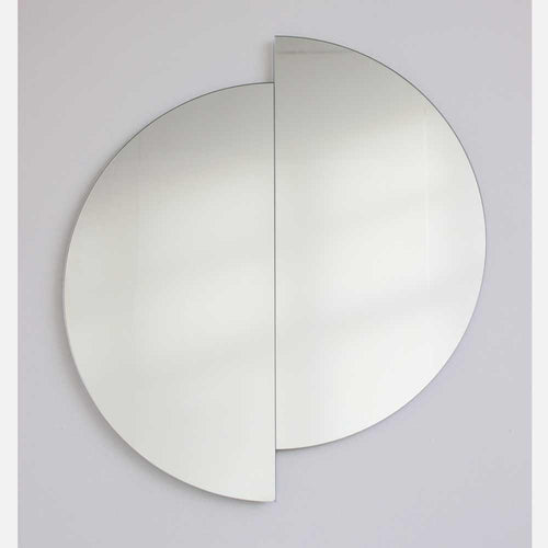 Silver Luna Orbis Full Circle Round Mirror™ Frameless