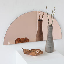 Luna™ Half-Moon Rose Gold / Peach Tinted Frameless Mirror (1 Piece)