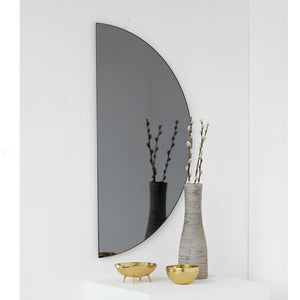 Black Tinted Luna Half-Moon Orbis™  Mirror (1 Piece) Frameless