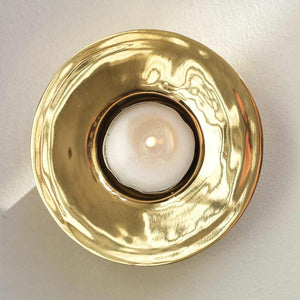 Brass Trumpet Tea Light Holder