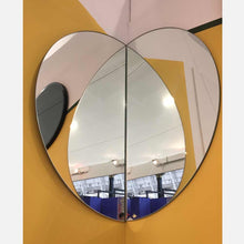 Luna™ 2 Half-Moon Pieces Minimalist Frameless Round Mirror