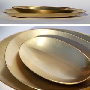 Brushed brass plates
