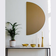 Luna™ Round 2 Half-Moon Pieces Bronze Tinted Minimalist Frameless Mirror