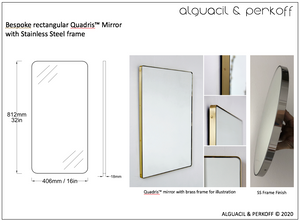Bespoke Quadris™ Mirror with Stainless Steel Frame
