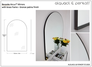 Bespoke Arcus™ Mirror with Brass Frame - Bronze Patina Finish