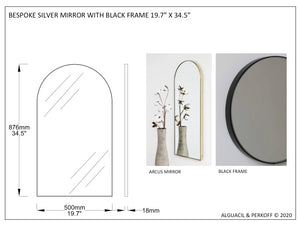 Bespoke Arcus™ black tinted mirror with black frame