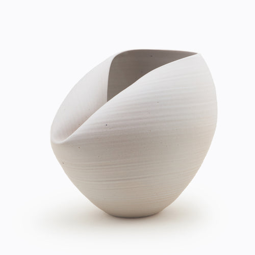 White Oval Form, Vase, Interior Sculpture or Vessel, Objet D'Art