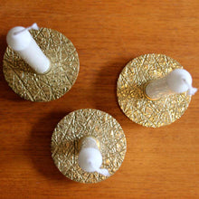 Set of 3 brass Kutch taper candle holders