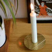 Brass Leaf taper candle holder