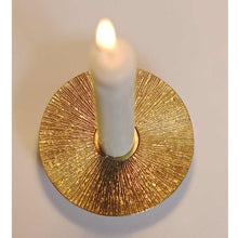 Brass Sun taper candle holder