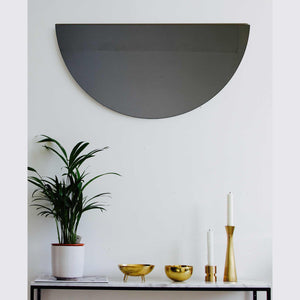 Luna™ Half Moon Black Tinted Mirror (1 Piece) Frameless
