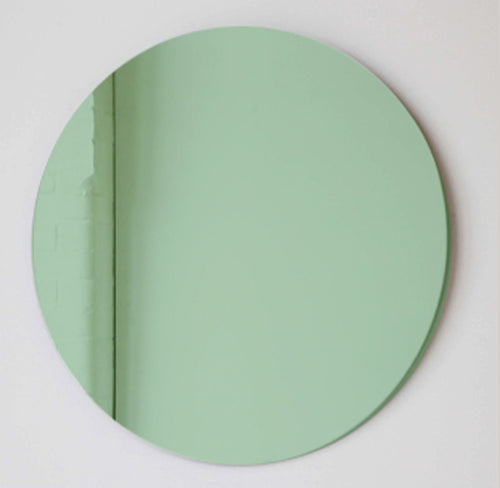 Green Tinted Orbis™ Round Mirror Frameless