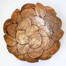 Large handmade Bronze Cast Leaf Bowl