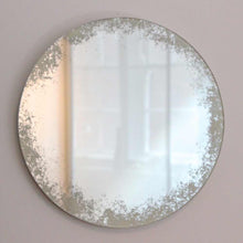 Orbis Mirror™ Silver with ivory antiqued finish